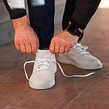 Мужские кроссовки South Fost White, замшевые белые мужские кроссовки, замшевые классические кеды, фото 7