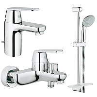 Набор смесителей для ванной 3 в 1 Grohe Eurosmart Cosmopolitan 126111S хром