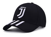 Бейсболка FC Juventus черная с белым лого, фото 1