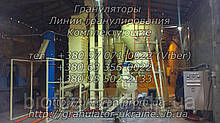 Комплект обладнання лінії гранулювання призначений для виготовлення твердого біопалива у вигляді гранули