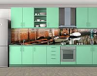 Кухонный фартук Лодки в Венеции, Кухонный фартук с фотопечатью, Архитектура, коричневый