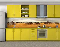 Кухонный фартук Пустыня и камни, Кухонный фартук с фотопечатью, Природа, бежевый
