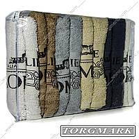Полотенце банное махровое (Турция) 70 х 140 см 100% хлопок расцветки в ассортименте в упаковке 6 шт, фото 1