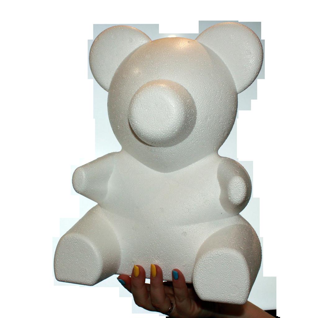 """Заготовка """"мишка из роз"""" из пенопласта, полистирола 35 см"""