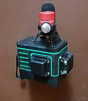 Лазерный уровень 3D Зеленые линии + Боковое крепление ! KaiTian 3D