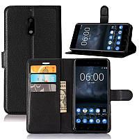 Чехол-книжка Litchie Wallet для Nokia 6 Черный