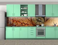 Кухонный фартук Компас и карты, Кухонный фартук с фотопечатью, Разное, коричневый, 600*3000 мм, фото 1