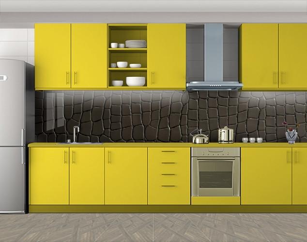 Кухонный фартук Кожа Крокодила, Пленка для кухонного фартука с фотопечатью, Текстуры, фоны, коричневый