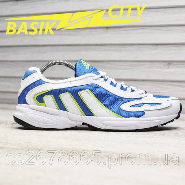 Мужские кроссовки Adidas Galaxy K White Blue картинка описания