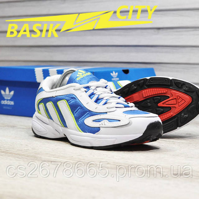 Мужские кроссовки Adidas Galaxy K White Blue картинка