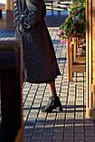 Шкіряні туфлі на невисокому каблуці., фото 2