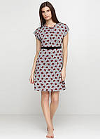 Платье Bisbigli 46 Серый, Красный