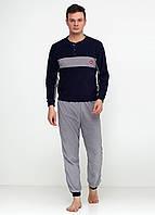 Пижама (штаны, кофта) Lee Cooper XL Темно-синий, Серый