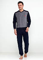 Пижама (штаны, кофта) Lee Cooper XL Темно-синий, Серый, Красный