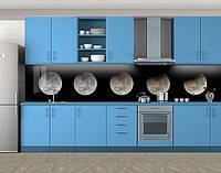 Кухонный фартук Лунный цикл, Стеновая панель с фотопечатью, Космос, черный, 600*3000 мм, фото 1