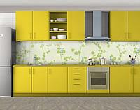 Кухонный фартук Травяные побеги, Наклейка на кухонный фартук, Текстуры, фоны, зеленый, 600*3000 мм, фото 1