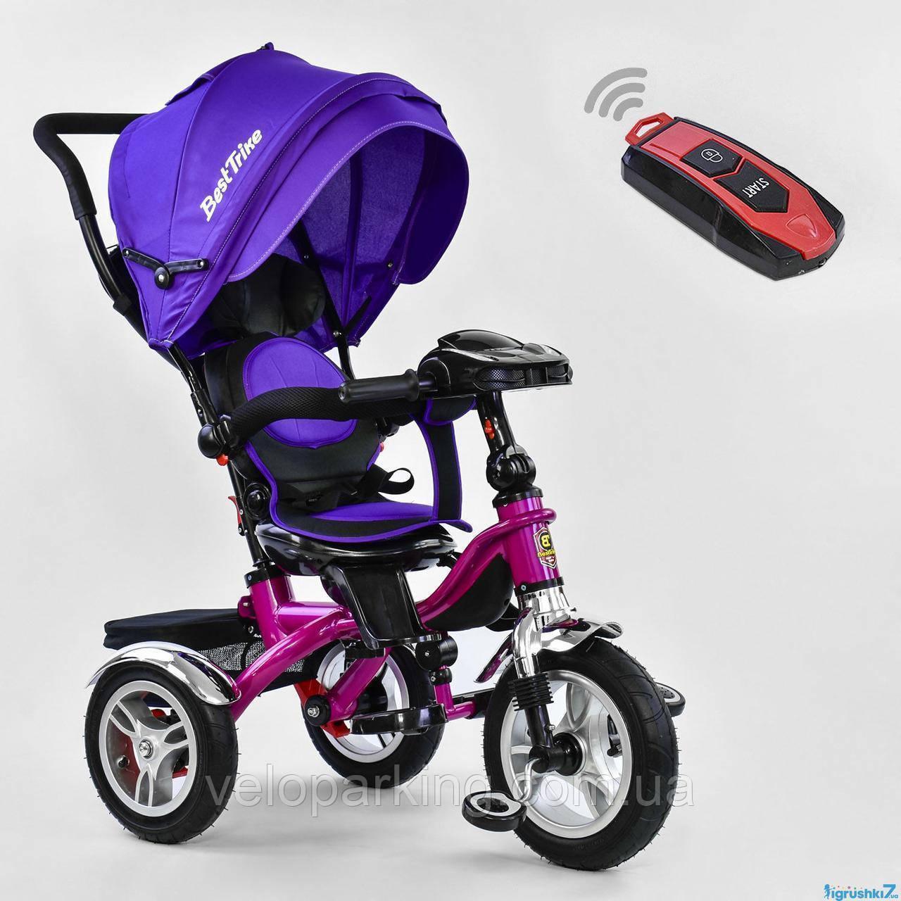 Трехколесный детский велосипед Best Trike  5890 (2019) (надувные колеса & пульт света & поворотное сидение)