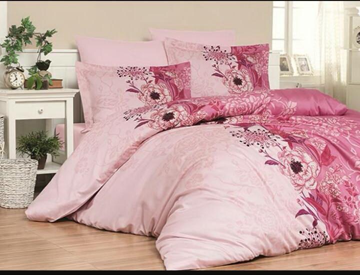 Двоспальний постільний комплект - Беатріс рожева