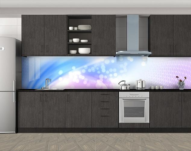 Кухонный фартук Нежное сияние, Стеновая панель с фотопечатью, Абстракции, фиолетовый
