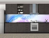 Кухонный фартук Нежное сияние, Стеновая панель с фотопечатью, Абстракции, фиолетовый, фото 1