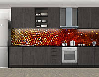 Кухонный фартук Мозаика круги, Защитная пленка на кухонный фартук с фотопечатью, Абстракции, коричневый, фото 1