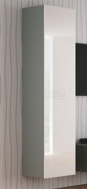 Пенал навесной Livo S-180 Halmar Бело-серый