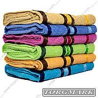 Полотенце банное махровое 70 х 140 см расцветки в ассортименте в упаковке 6 шт
