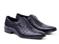 Классические туфли из черной кожи ETOR