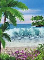 """Фотообои бумажные на стену, 134х194 см """"Аромат океана"""", фотообои готовые, фотообои природа, 8 листов"""
