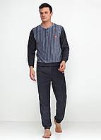 Пижама (штаны, кофта) Lee Cooper XXL Серый, Темно-серый, Голубой