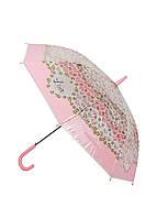 """Зонтик """"Веточки с листочками"""" dlp D=103см Прозрачный, Розовый, Зеленый"""