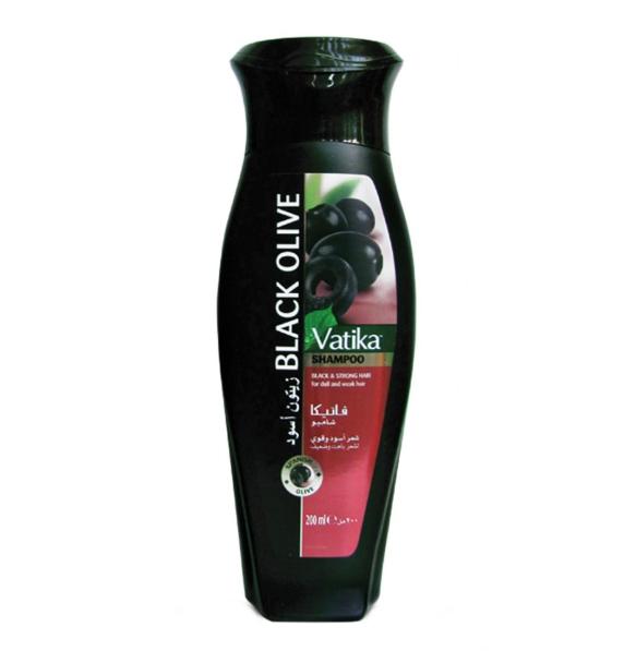 Шампунь Ватика Дабур Чёрная Оливка для естественных черных волос Vatika Dabur Black Olive, 200 мл