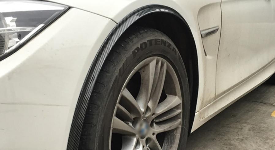 """Молдинг резиновый """"под карбон"""" на колесные арки 120 см 1 шт."""