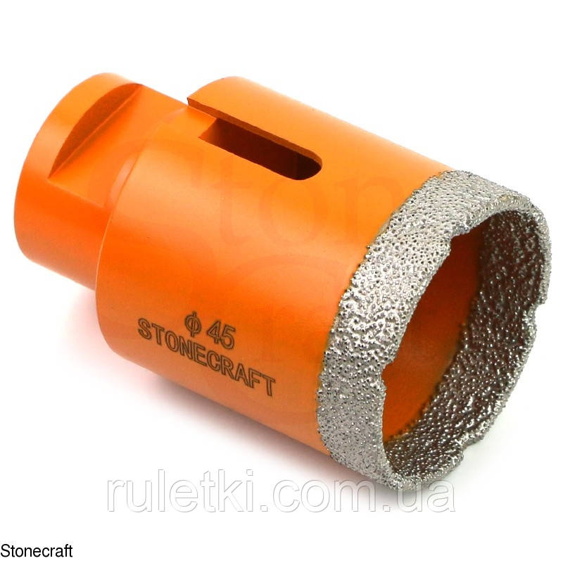 Алмазная коронка d 45 mm х М14 вакуумного спекания