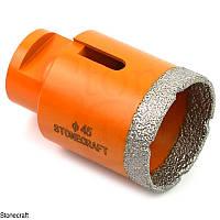 Алмазная коронка d 45 mm х М14 вакуумного спекания, фото 1