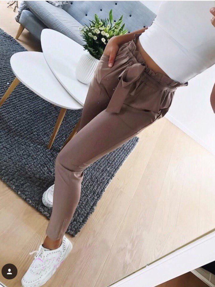 """Женские брюки с высокой талией """"Леди"""""""