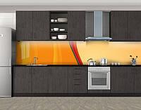 Кухонный фартук Абстрактные переливы, Самоклеящаяся скинали с фотопечатью, Абстракции, оранжевый, фото 1