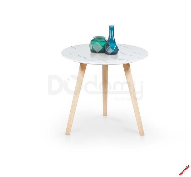Журнальный столик AIDA halmar / белый мрамор / бук