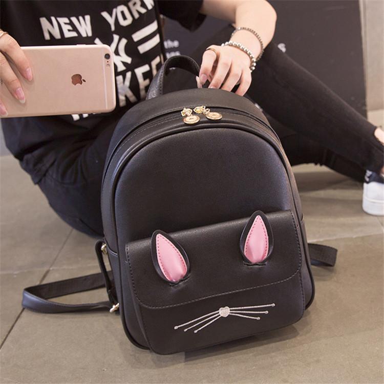 Рюкзак девушка кожаный черный сделанный в Китай спортивный городской стильный только опт