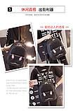 Рюкзак девушка кожаный черный сделанный в Китай спортивный городской стильный только опт, фото 6