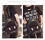 Рюкзак девушка кожаный черный сделанный в Китай спортивный городской стильный только опт, фото 7