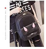 Рюкзак девушка кожаный черный сделанный в Китай спортивный городской стильный только опт, фото 8