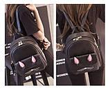Рюкзак девушка кожаный черный сделанный в Китай спортивный городской стильный только опт, фото 9