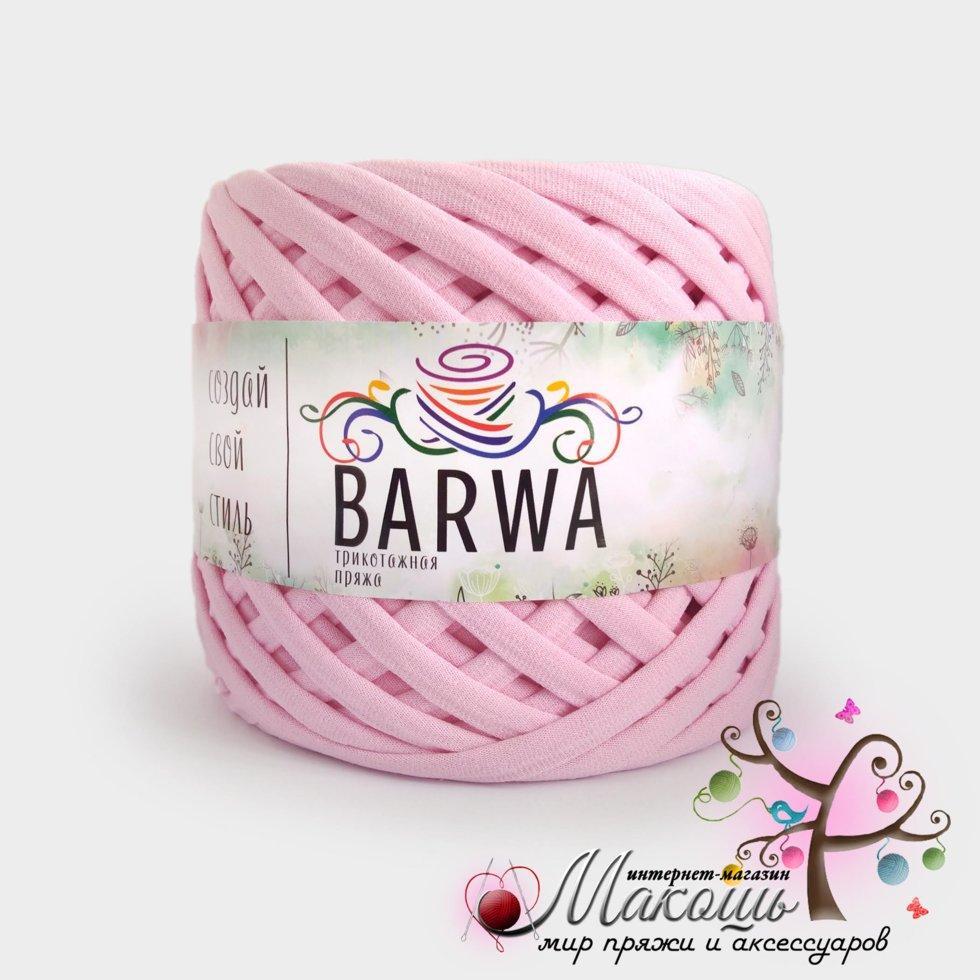 Трикотажная пряжа Барва, лайт 5-7 мм, нежно-розовый