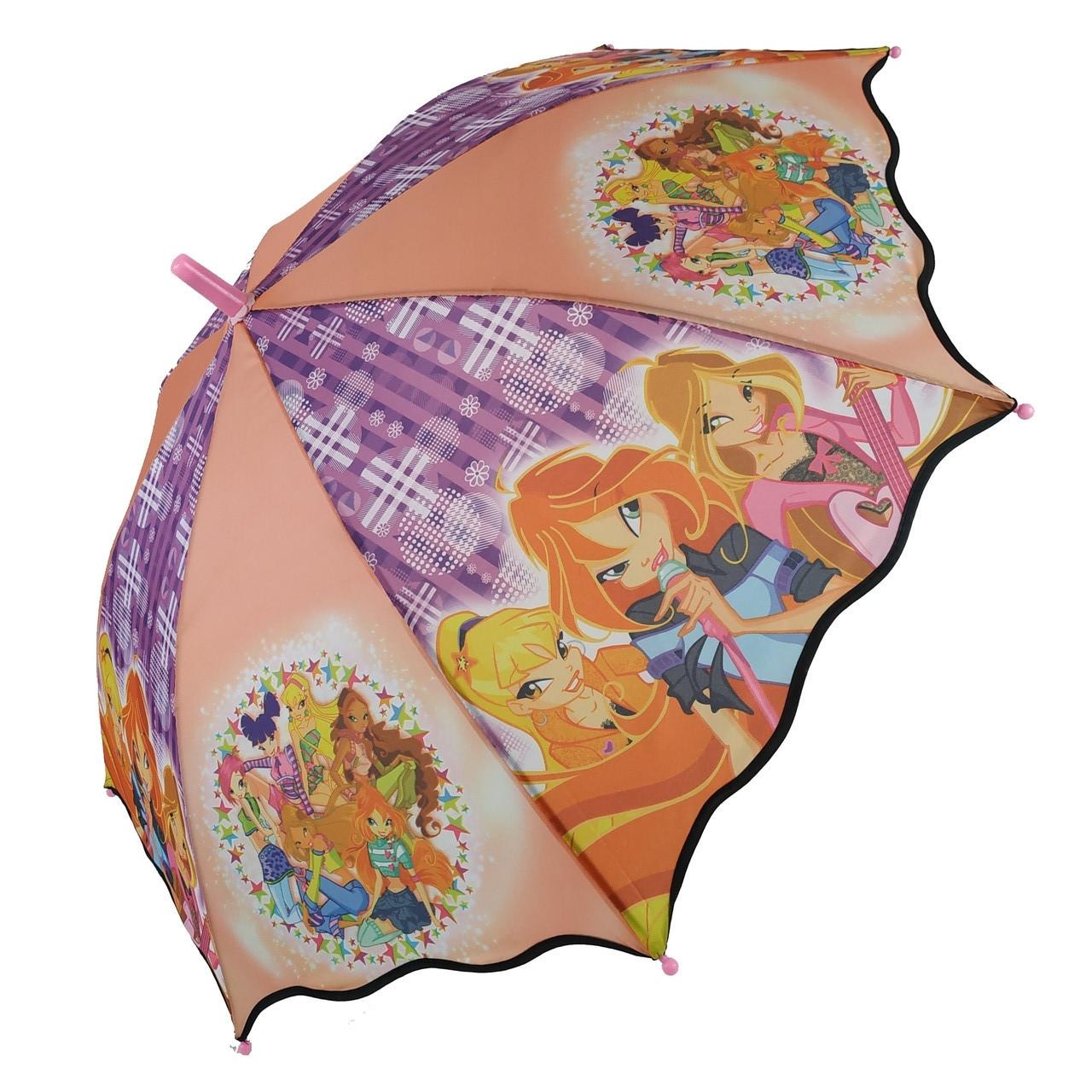 Детский зонтик-трость с принцессами от Max для девочек, разноцветный, 007-3