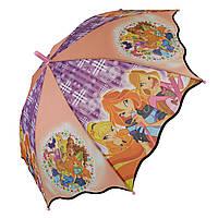 Детский зонтик-трость с принцессами от Max для девочек, разноцветный, 007-3, фото 1