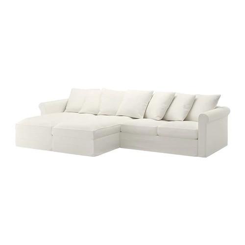4-местный диван с шезлонгом IKEA GRÖNLID Inseros белый 992.548.04
