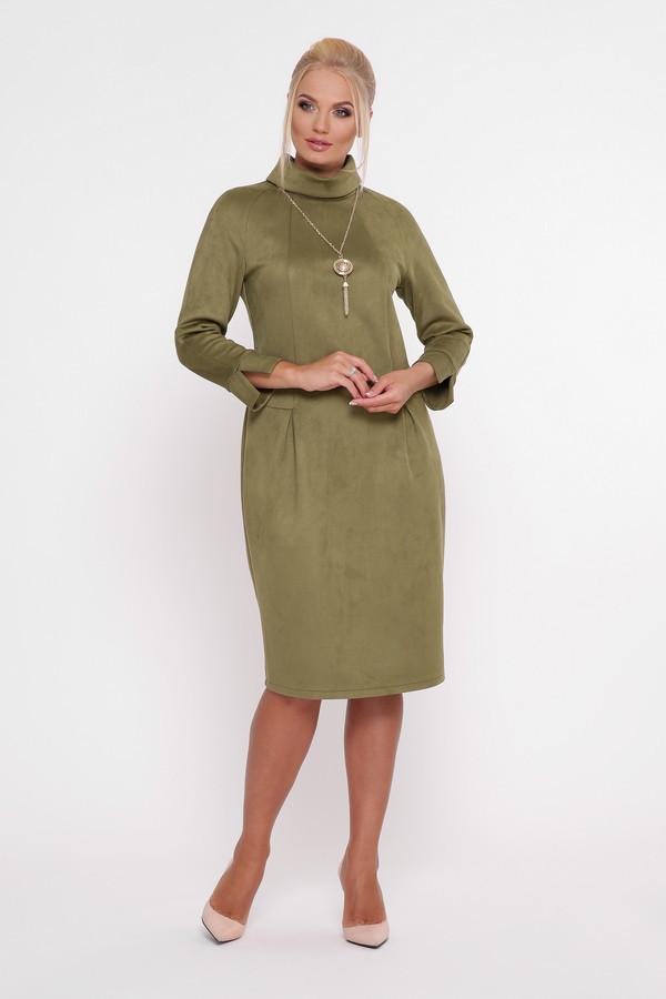 Замшевое платье с 52 по 58 размер