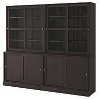 Сервант IKEA HAVSTA 242x212x47 см темно-коричневый 092.768.67