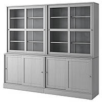 Сервант IKEA HAVSTA 242x212x47 см серый 892.768.68